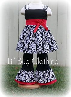 Custom Boutique Girl Christmas Outfit Valentines Pageant Wear Outfit | Lilbugclothing - Clothing on ArtFire