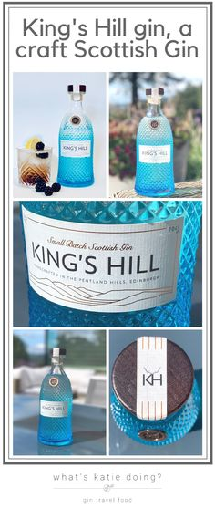 King's Hill gin a Scottish craft gin Scottish Gin, Gin Tasting, What Katie Did, Gin Gifts, Gin Recipes, Craft Gin, Gin Lovers, Blue Bottle, Cocktails