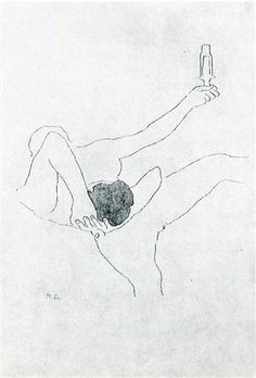 The Bec Auer - Marcel Duchamp, etching with aquatint; 1968. From the series 'The Large Glass and Related Works, with Nine Etchings by Marcel Duchamp on the Theme of the Lovers'