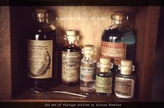 1/3 BJD Apothecary bottle set : Medicine bottle by AtriumHoshino