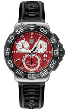 TAG Heuer Men's CAH1112.BT0714 Formula 1 Chronograph Quartz Watch, Bold, sporty, and made with fine attention to detail, the Formula 1 #CAH1112.BT0714 from TAG Heuer is rugged enough to keep up with all your outdoor adventures, but stylish enough to pair with everyda..., #Watches, #Sport Watches