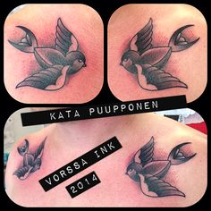 https://www.facebook.com/VorssaInk, http://tattoosbykata.blogspot.fi, #tattoo #tatuointi #katapuupponen #vorssaink #forssa #finland #traditionaltattoo #suomi #oldschool #pin up #swallow #sparrow