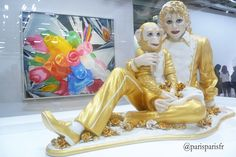Jeff Koons, Michael Jackson and Bubbles, 1988; ceramic, glaze, and paint.