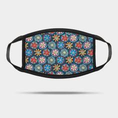 Masks by Sandra Hutter Designs | TeePublic Face Masks For Kids, Flower Doodles, Red And Blue, Sunglasses Case, Design