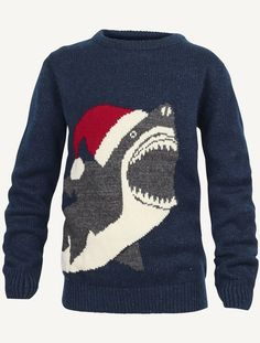 $30 Christmas Shark Sweater - Fat Face (lil boys sizes!)