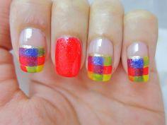 Plaid Shirt Nail Art | chichicho~ nail art addicts