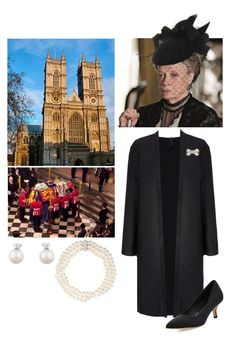 """""""Flashforward: Queen Mary the Queen Mother at the funeral of her son King James IV at Westminster Abbey"""" by immortal-longings ❤ liked on Polyvore featuring Dolce&Gabbana, Brazen, Donald J Pliner and Giovane"""