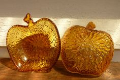 Collectable Glassware  Vintage Amber Glass by pinkneonvintage, $12.00