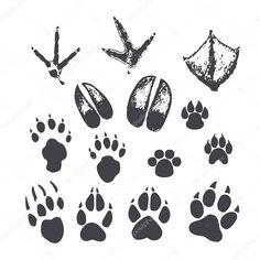 Vektorové packa tiskne zvířat a ptáků Illustration, Prints, Animals, Art, Art Background, Animales, Animaux, Kunst, Animal