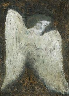'An Angel Watching Over' by Tetsuhiro Wakabayashi Original Artwork, Original Paintings, Burning House, Little Gardens, Divine Light, Angel Art, Japanese Art, Painting Inspiration, Modern Art