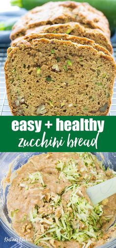Best Zucchini Bread The BEST Healthy Zucchini Bread Recipe! So moist, and made with applesauce or banana and cinnamon. This easy zucchini bread is made in one bowl. You are going to love it for a quick breakfast or snack! Best Healthy Zucchini Bread Recipe, Easy Zucchini Bread, Easy Bread Recipes, Banana Bread Recipes, Cooking Recipes, Healthy Zucchini Muffins, Cinnamon Zucchini Bread, Courgette Bread, Healthy Sweet Snacks