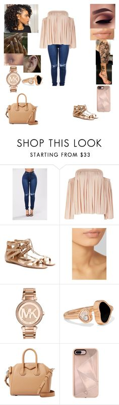 """""""Untitled #255"""" by jay2001 ❤ liked on Polyvore featuring Elizabeth and James, Aquazzura, Hourglass Cosmetics, Michael Kors, Chopard, Givenchy and Rebecca Minkoff"""