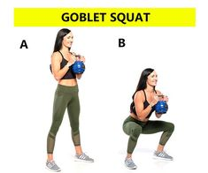 Top 5 Squats Variations for Booty, Legs & Abs – Squats Workout plan – Weightloss Pin Top 5 Squats Variations for Booty, Legs & Abs – Squats Workout plan Goblet Squat: Squats variations for Bigger buttocks, Slim Legs workouts. Slim Legs Workout, Basic Workout, Squat Workout, Workout Warm Up, Friday Workout, Gym Workouts, Body Squats, Squat Variations, Squats