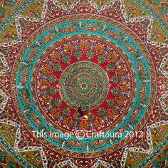 need to buy Mandala Tapestry Indian Tapestry Wall Hanging by CraftAuraHome, $19.99