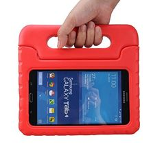 Travellor®Samsung Galaxy Tab 4 7.0 - Kids Light Weight Shockproof Protective Cover Case Super Protection with Stand & Handle for Samsung Galaxy Tab 4 7.0-inch (Red), http://www.amazon.ca/dp/B015F07EOO/ref=cm_sw_r_pi_awdl_P-OewbXY83K69