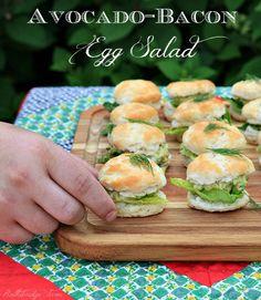 Avocado-Bacon Egg Salad on a mini biscuit! Rattlebridge Farm