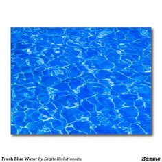 Fresh Blue Water Postcard