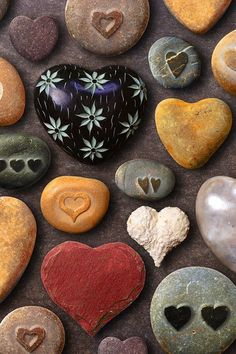 Scattering decorative rocks in a garden is both fun for children and adults to find.