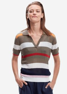 Bluse stribet 22121 Storm og Marie Maggie Polo - multi color