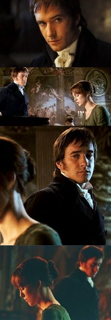 Darcy and Elizabeth at Rosings...I love the looks Darcy gives her throughout this scene. :)
