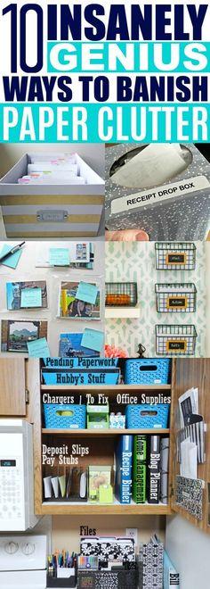 Organizing Paperwork Ideas #organizingclutter #organizedhouse