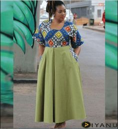 24 Gorgeous Kitenge Dresses for Plus Size Women at Diyanu Source by acelinehuff Plus Size Maxi Dresses, Plus Size Outfits, Ankara Maxi Dress, Top Clothing Brands, Outfit Trends, Outfit Ideas, Full Figure Fashion, Kitenge, African Print Fashion