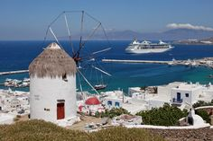 For warm welcomes, lazy beach days and lively party nights nothing beats the Greek Island os Mykonos Royal Caribbean, Greece Cruise, Greece Travel, Grandeur Of The Seas, Mykonos Town, Mykonos Greece, World Cruise, Places In Greece, Mykonos Island