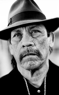 Danny Trejo - American actor who has appeared in numerous Hollywood… actors Iconic Hispanic Angelenos in History: Danny Trejo Hollywood Actor, Hollywood Stars, Celebrity Portraits, Celebrity Photos, Danny Trejo, Photo Star, Jean Reno, Moustaches, Black And White Portraits