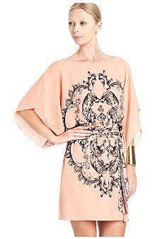 BCBGMAXAZRIA Printed Kimono Sleeve Dress