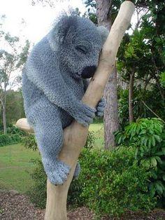 Amazing chicken wire sculptures - koala