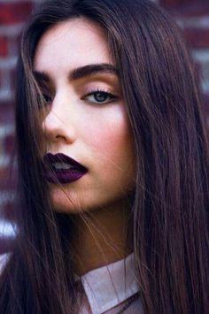 Purple lipstick!