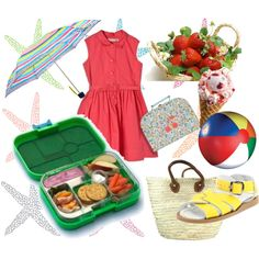 Summer Time essentials for Girl. Warm, sunny days are meant to be spent outside, wearing light sandals, cotton dresses, eating strawberry ice cream, and of course having a nice snack-on-the-go ready in a Yumbox.