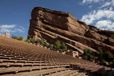 Speaking of rock--RED ROCKS PARK AND AMPHITHEATER There is no better place to see the stars than at Red Rocks Amphitheatre. Enjoy a concert in the open air atmosphere with the moon and the stars above. Over 100 performances light the stage in the season of concerts. In one of the nation's best music venues, the design of the Amphitheater with two, three hundred-foot monoliths (Ship Rock and Creation Rock), provide acoustic perfection for any performance.