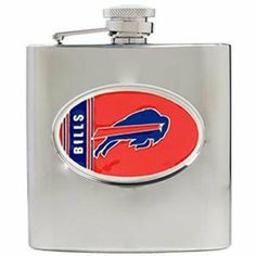 Buffalo Bills - 6oz Stainless Steel Hip Flask by Great American Products. $42.84. Great American Products NFL Hip Flasks. This Officially Licensed flask is decorated in the team colors and proudly displays handcrafted metal emblem featuring the Team Logo.. Buffalo Bills - Great American Products NFL Hip Flasks - Buffalo Bills - 6oz Stainless Steel Hip Flask - Item: HF2012-13