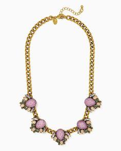 charming charlie | Suite Stone Bib Necklace | UPC: 400000274201 #charmingcharlie