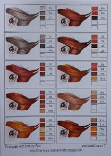 Copic combinations for HAIR COLOR - page 7 of 11