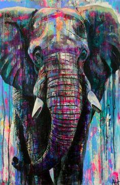Herculean painting by angie wright Animal Paintings, Animal Drawings, Art Paintings, Arte Ganesha, Elephant Artwork, Elephant Paintings, Elephant Canvas Art, New Retro Wave, Acrylic Art