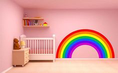 Rainbow wall #sticker plain children's #bedroom nursery decal car art #vinyl 4 si, View more on the LINK: http://www.zeppy.io/product/gb/2/331872252993/