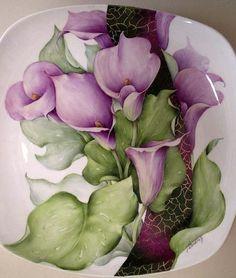 Handpainted China-Calla Lilies. Artist unnamed. - Поиск в Google