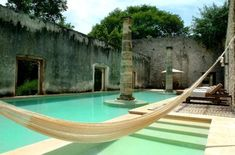 Hacienda Uayamon - Campeche - Mexico If I could live in a hammock for the rest of my life I would be happy.