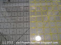 A Left-Handed Quilter: LHQ - Review - Ruler - O'LIPFA (R) Lip Edge Ruler - 5 x 24