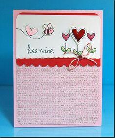 Sweet Valentine by Lynnette! Bee Mine by Lawn Fawn