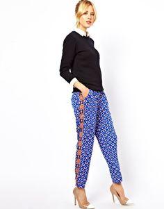 Image 1 of ASOS Pants in Mixed Print