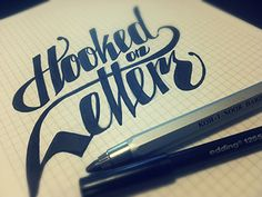 Dribbble - Hooked On Letters by Kristof Tarisznyas  Love the lettering style for a business