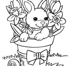 Cute Baby Rabbit Coloring Page Sponsored Links 2 Rabbits In Garden