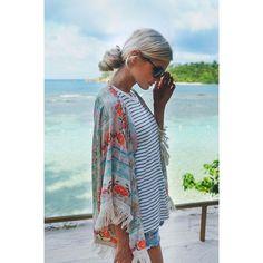 Kimono con estampado floral - Sweet Sweet