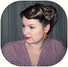 Image result for 1940s updo