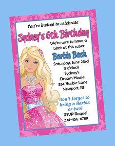 Free Print Barbie Invitations | Birthday Invitations Printable And Post Barbie