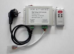 High lumen 110v -240v led strip Wireless RGB Controller is a smart LED controller using wireless RF remote control color and brightness variations of the high voltage led strip light    Prod