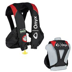 1  Onyx A33 InSight Deluxe Tournament Automatic Inflatable Life Vest  BlackRed -- Click image for more details.Note:It is affiliate link to Amazon.